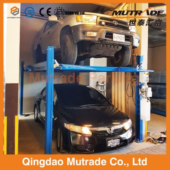 Car Lift For Garage >> Residential Home Hydraulic Stacker Four Post Car Lift Garage