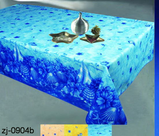 100% Polyester Solid Jacquard Tablecloth/Runner pictures & photos