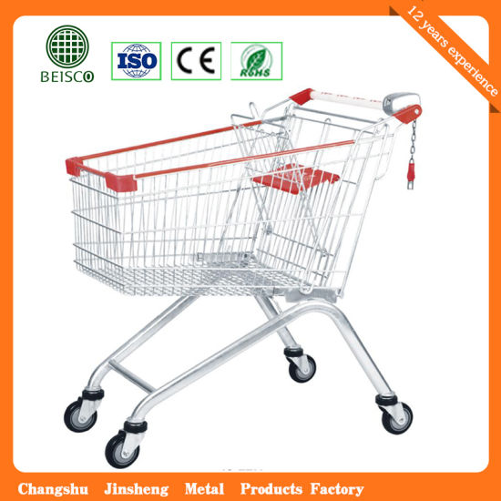 Carrefour Supermarket Design Quality Grocery Shopping Cart Trolley (JS-TEU03) pictures & photos
