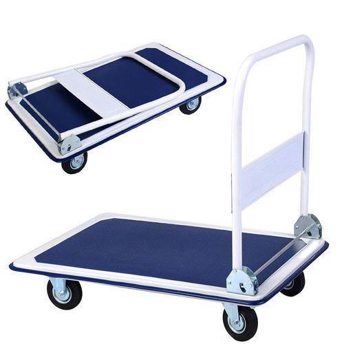 Folding Trolley Cart Platform Flat Hand 150kg Heavy Duty Barrow Sack Comfort