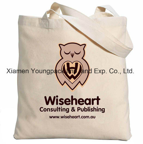 Promotional Gifts Custom Eco Friendly Reusable Carrier Bag Calico Cloth Carry Bag 100% Natural Organic Cotton Bag Grocery Shopping Tote Bag Canvas Handbag Bags