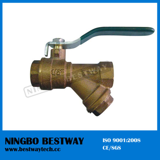 Top Sale Bronze Ball Valve with Filter Price (BW-Q08)