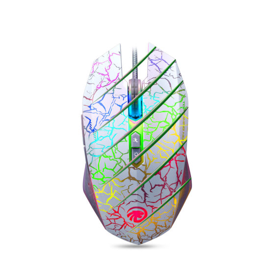 Backlit 7D 800-2000dpi Gaming Optical Computer Mouse with Braided Wire pictures & photos