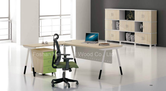 Office Furniture Desk With Side Table