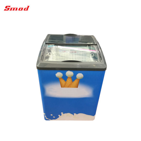 China commercial sliding curved glass door ice cream freezer 158l commercial sliding curved glass door ice cream freezer 158l planetlyrics Gallery