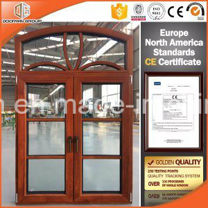 European and America Standard Aluminum Wood Casement Window with Full Divided Lites