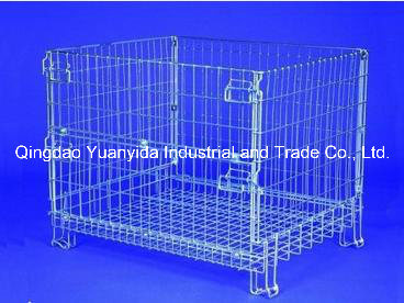 Hc3 Good Sale Metal Mesh Warehouse Foldable Wire Storage Cages pictures & photos