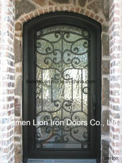 2018 Fancy Wrought Iron Entry Door Exterior