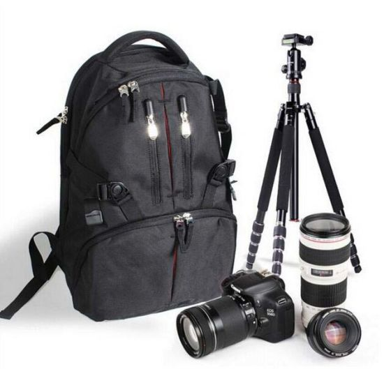 Camera Bag DSLR SLR Laptop Backpack Rucksack Bag Case Sh-16042646