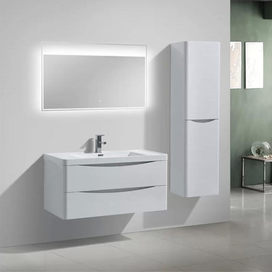 Modern European Bathroom Vanity Cabinet with LED Mirror
