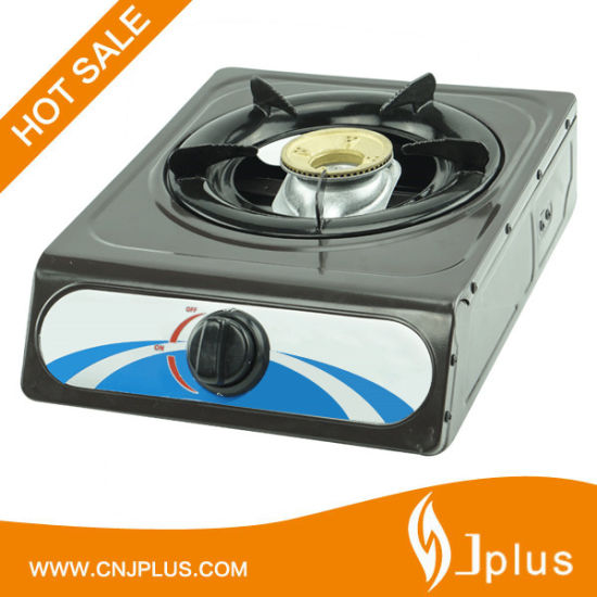 Golden Iron Cap Aluminum Burner Gas Cooker Jp-Gc101ts