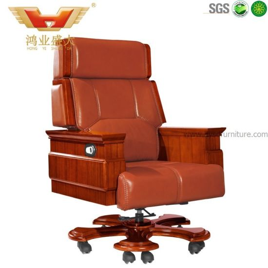 Used Leather Chair Executive Reddish Office