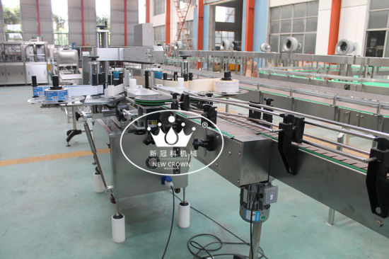 Automatic Double Head Adhesive Labeling Machine for Round Bottles pictures & photos