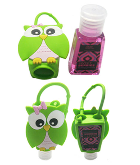 Customized Eco-Friendly 29 Ml Animal Shape Antibacterial Blue/White/Pink/Yellow Silicone Hand Sanitizer Bottle Holder