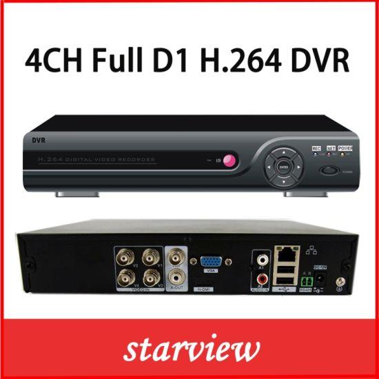 China Surveillance Video Recorder 4CH Full D1 P2p Cloud CCTV