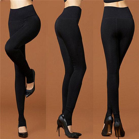 727881613519f High Waist Fleece Lined Warm Winter Leggings for Women (50246-1) pictures &