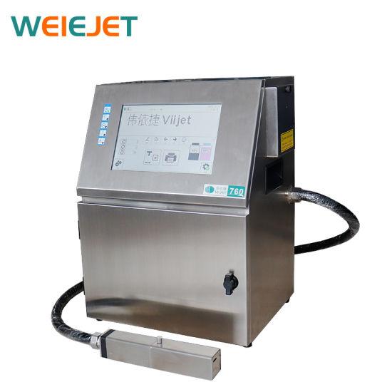 High Speed Printing Machine V760 Touch Screen Continuous Inkjet Printer Coding Machine for Coding on PE Box