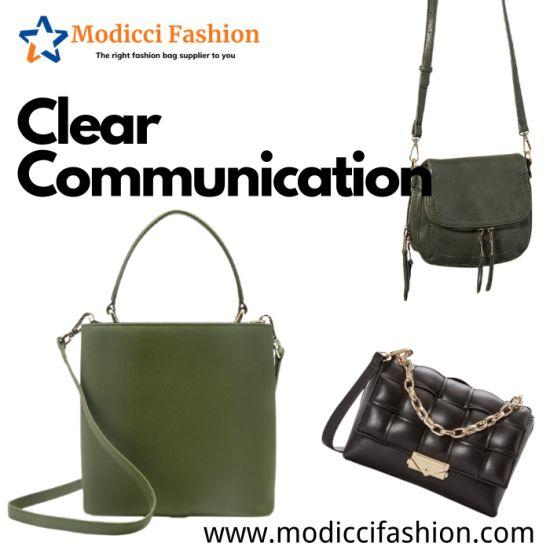 Luxury Designer PU Leather Crossbody Fashion Women Lady Handbags Shoulder Tote Handbags for Women Wholesale Market Distributor OEM ODM Manufacturer Guangzhou