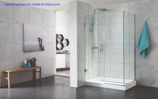 SGCC Glass 90 Degree Hinge Shower Enclosure Fit for Bathtub Half-Wall