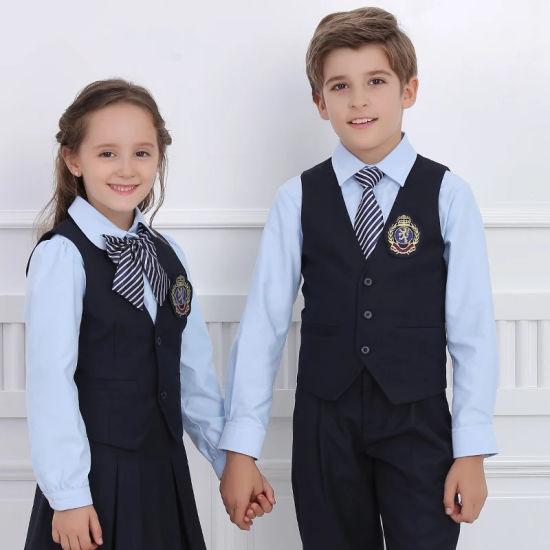 Wholesale Cheap China Custom Design School Wear School Uniform for Kids High Quality