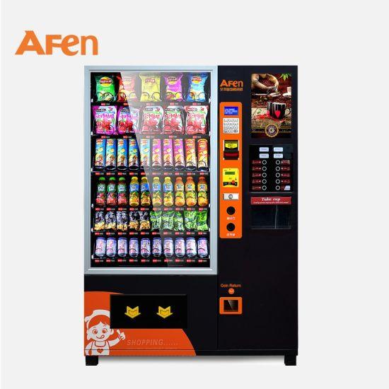 Afen LCD Advertising Screen Instant Food Beverage Tea Coffee Vending Machine