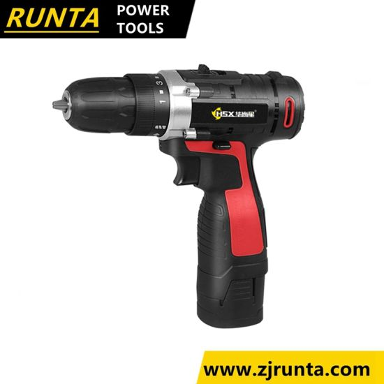 Rechargebale Power Battery Vertical Battery Packing Cordless Drill (HD501)