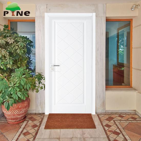 China Inside White Color Swing Doors Type With Wood Veneer