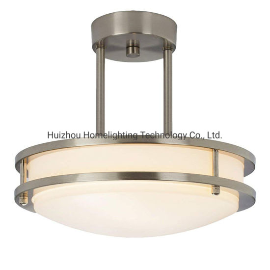 Jlc-H11 Home Semi Flush Mount Ceiling Lamp with White Tempered Acrylic Shade