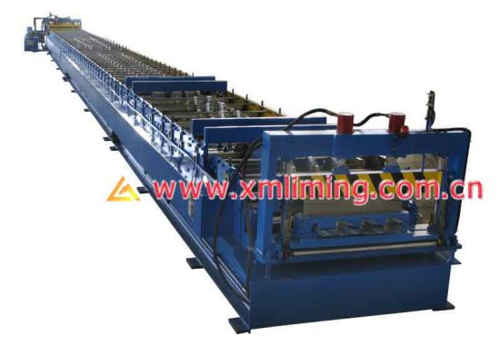 Xiamen Liming Yx71-200-600 Roll Forming Machine for Closed Decking Profile