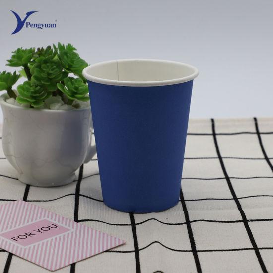 China Manufacturer Custom Logo Printed Disposable Single Wall Paper