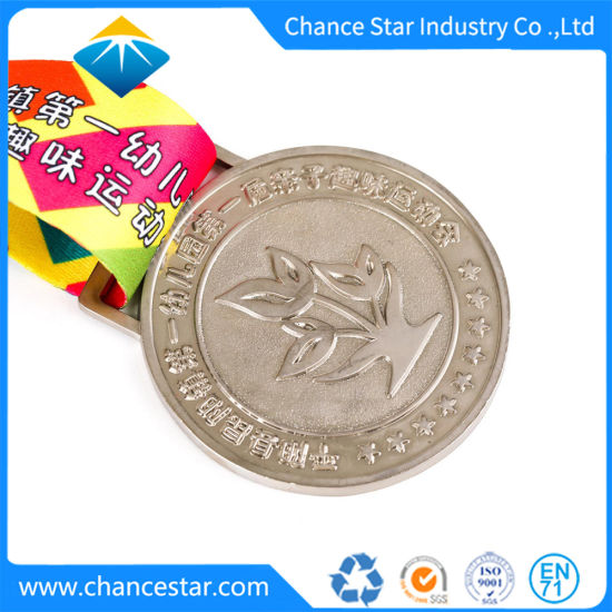 Custom 3D Die Casting Logo Zink Alloy Metal Medal with Ribbon pictures & photos