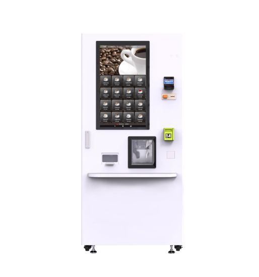Bean to Cup Coffee Vending Machine with Ice Maker for Indonesia Market