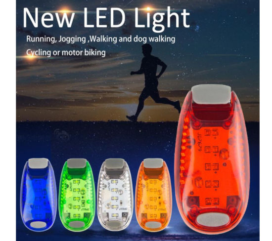 LED Safety Light 2 Pack - Nighttime Visibility for Runners, Cyclists, Walkers, Joggers, Kids, Dogs, Relays & More - Clip to Clothes Strap to Wrist, Ankle, Bike,