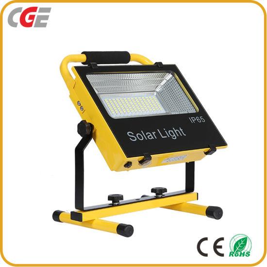 Recharge IP65 Smart Super Brightness 100watt Integrated All in One Solar LED Flood Light