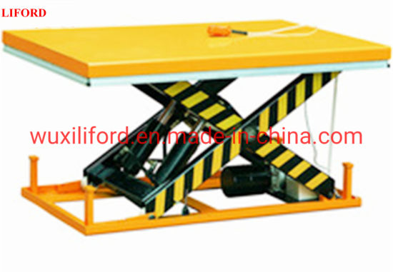 China Manufacturer Stationary Hydraulic Scissor Lift Table 1000kg-4000kg