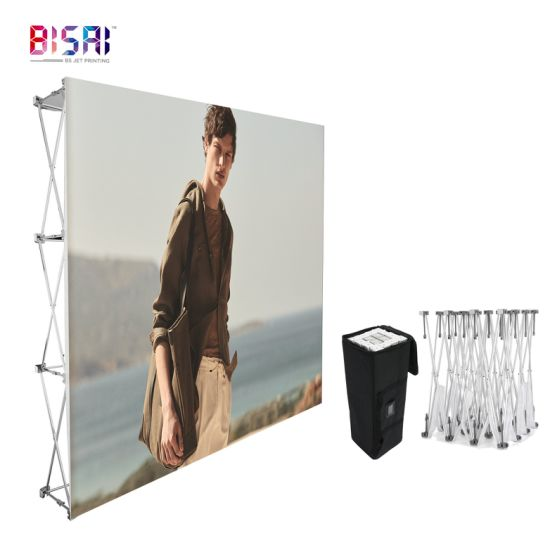 Custom PVC Coated Frontlit Banner Message Exhibition Advertising Display Pop up Stand Banner