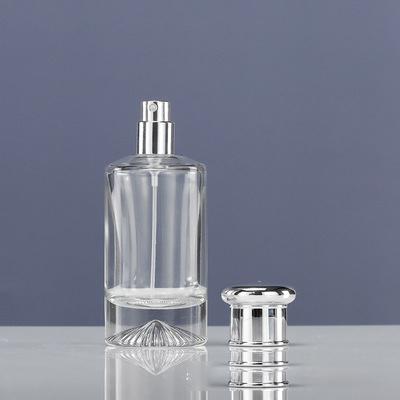 50ml 100ml Empty High Quality Cylinder Transparent OEM Glass Perfume Bottle with Gift Box Pump Sprayer