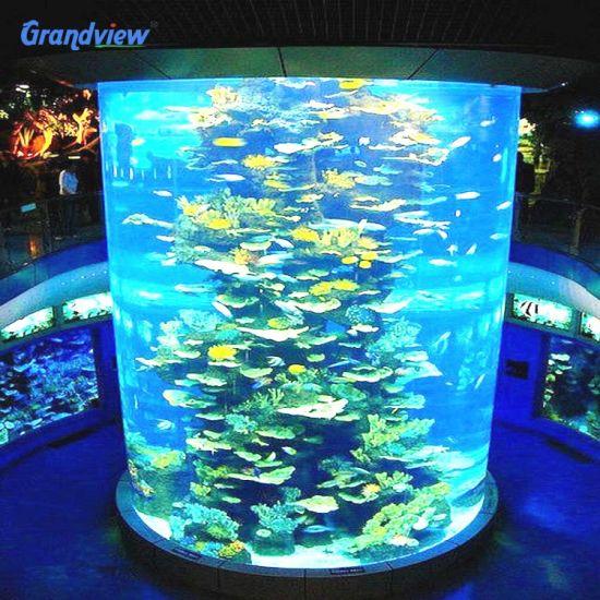 Anti UV Acrylic Sheet for Cylinder Marine Aquarium