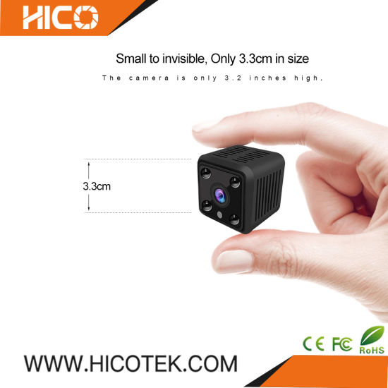 Miniature WiFi Wireless Onvif Ai Smart SD Card APP Cloud Storage Battery Power Covert CCTV IP Mini Web PC Home Security Cube Portable P2p Camera