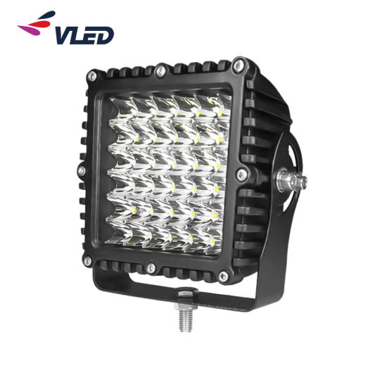 5 Inch Square LED Work Light with RoHS Ce EMC Approved for Offroad Car Roof
