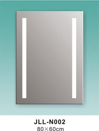 Square Mirror Bathroom Mirror LED with Touch Switch Mirror