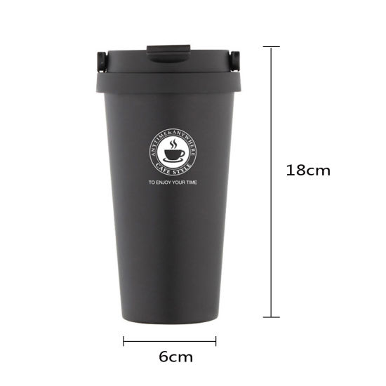Original Factory Supply 304 Stainless Steel Thermal 500ml Coffee Tumbler Mug Creative for Korea with Handle for Gift Advertisement Customization