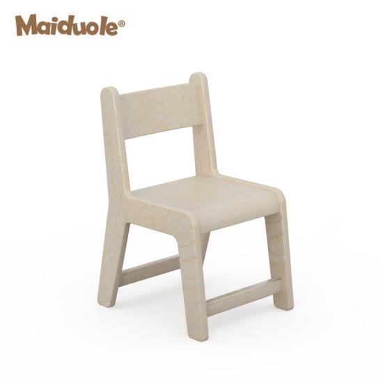 Children Furniture Wood Chair for Kindergarten Pine Wood Kids Chiair