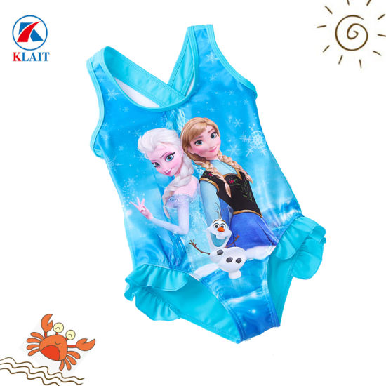c8e66ed53e Customized Child Polytester Bathing Suit Printed Girl One Piece Swimsuit.  Get Latest Price