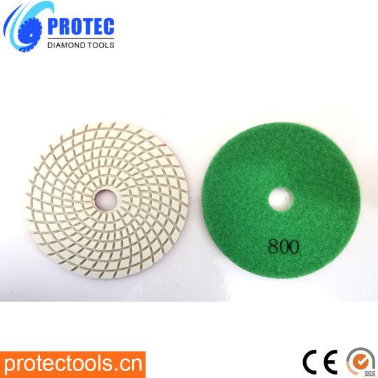 "Diamond Polishing Pads/Diamond Tools/Polishing Tool/Polishing Pad/Wet&Dry Polishing Pads/Flexible Polishing Pads 4""/105mm/7 Step Polishing Pad 8"