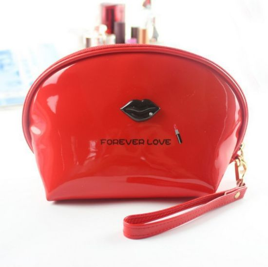 Wholesale Fashion Leisure Promotional Waterproof Travelling Lady's Candy-Colored PVC Shell Waterproof Toiletry Bag
