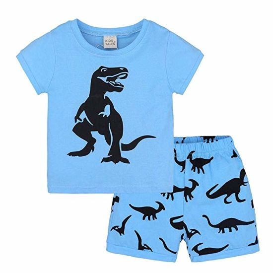 Toddler Kids Baby Boy Dinosaur Clothes Boys Outfits Sets Short T-Shirt Pants