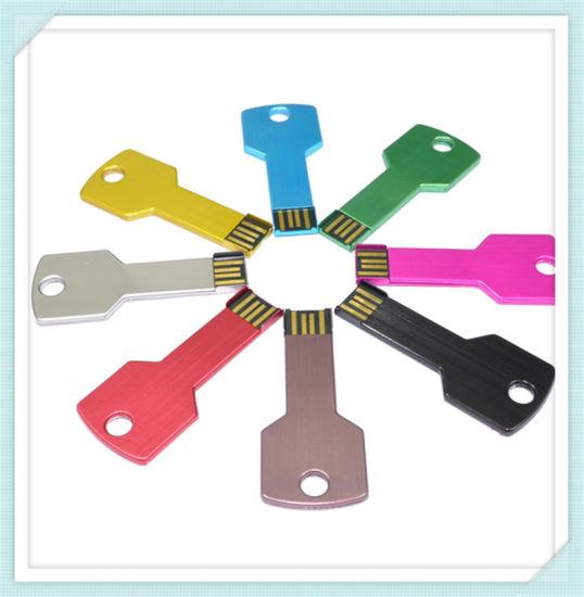 USB Key with Custom Logo Wholesale Key Shape USB Flash Drive for Advertising