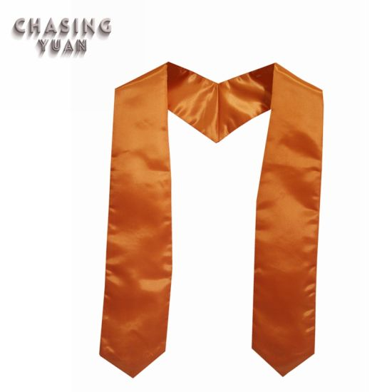 Plain Orange Children Graduation Stoles Wholesale