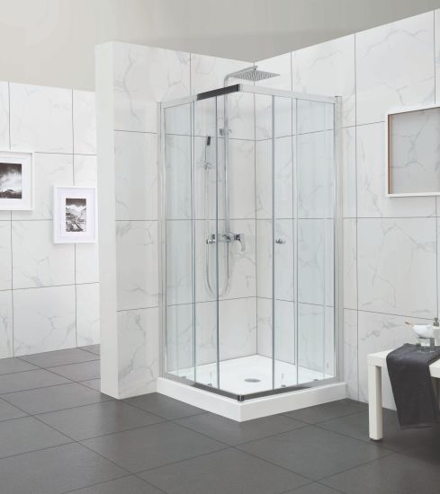 Square Corner Entry up-Grade Design Slider Shower Door